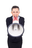 Angry boss yelling Stock Photography