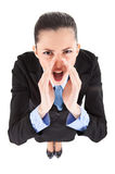 Angry boss yelling Royalty Free Stock Image