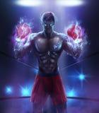 Angry boxer warrior. Stock Photos