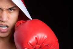 Angry Boxing Man Stock Images