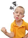 Angry boy Stock Photos