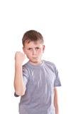 Angry boy Stock Image