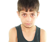 Angry Boy. A portrait of an angry Asian boy royalty free stock photos