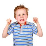 Angry Boy. A cute young boy with an amusing look of anger Royalty Free Stock Photo