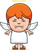 Angry Boy Angel Stock Images