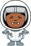 Angry Boy Astronaut. A cartoon illustration of a boy astronaut looking angry Stock Photography