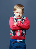 Angry boy isolated Stock Photos