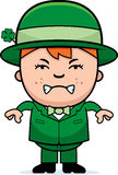 Angry Boy Leprechaun Royalty Free Stock Photos