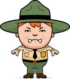 Angry Boy Park Ranger Stock Photos