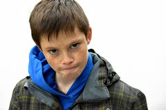 Angry boy. Portrait of an angry teenager boy Royalty Free Stock Photography