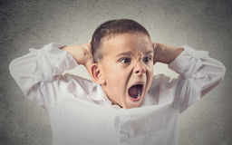 Angry boy screaming Royalty Free Stock Images