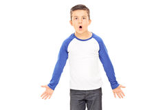 Angry boy shouting Royalty Free Stock Images