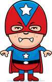 Angry Boy Superhero Royalty Free Stock Image