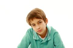 Angry boy royalty free stock photos