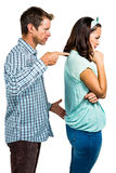 Angry boyfriend shouting at girlfriend Stock Image