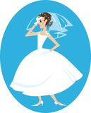 Angry bride vector illustration