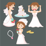 Angry Bride Royalty Free Stock Photos