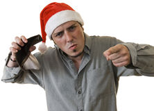 Angry Broke Xmas Royalty Free Stock Photos
