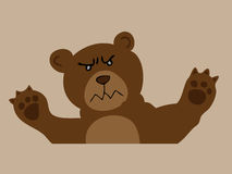 Angry brown bear Stock Image