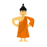 Angry Buddha furious. Indian god wrathful. Supreme teacher for B Royalty Free Stock Photography