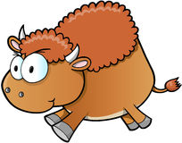 Angry Buffalo Vector Illustration Art Stock Photography