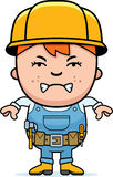 Angry Builder Boy Stock Photography