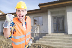 Free Angry Builder Screaming At Somebody Stock Photos - 81092123