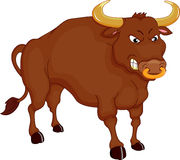 Angry bull cartoon Stock Photo