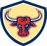 Angry Bull Head Crest Retro Royalty Free Stock Photography