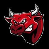 Angry Bull Head Mascot Illustration Vector. Great for logo mascot, school mascot, sport team logo, e-sport logo, gaming logo, etc vector illustration