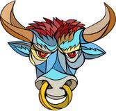 Angry Bull Head Mosaic Royalty Free Stock Photo