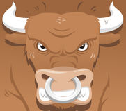 Angry bull. Vector illustration about an angry market bull Stock Images
