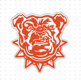 Bulldog Sports Mascot. An angry bulldog cartoon mascot. Perfect for sports teams Stock Photography