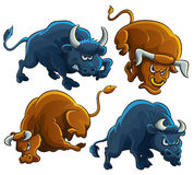 Angry Bulls Royalty Free Stock Photography