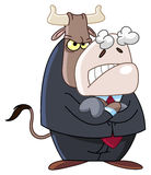 Angry business bull. Illustration of an angry business bull Royalty Free Stock Photography