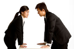 Angry business colleges Stock Image
