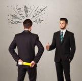 Angry Business Handshake Concept Stock Photos