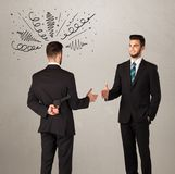 Angry business handshake concept Royalty Free Stock Image