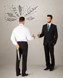 Angry business handshake concept Royalty Free Stock Images