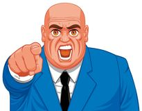 Angry business man Royalty Free Stock Photography