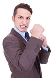 Angry business man Royalty Free Stock Photo