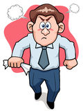 Angry business man royalty free illustration