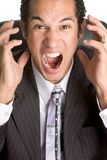 Angry Business Man Stock Photography