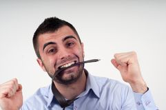 Man expressing frustration Royalty Free Stock Image