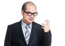 Angry business man fist up Royalty Free Stock Images