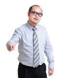 Angry business man point at front Stock Photo