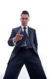 Angry Business man pointing Royalty Free Stock Photo