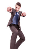 Angry Business man pointing Stock Photos