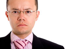 Angry business man portrait Stock Photography