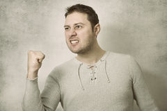 Angry business man power Royalty Free Stock Photo